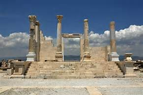 City and Church of Laodicea in ruins