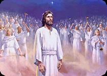 Revelations dressed in white robes