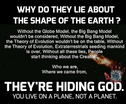 Lies about the shape of the earth